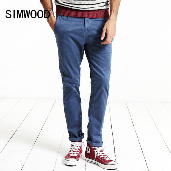 b5f2376678693 SIMWOOD 2018 New Spring Casual Pants Men Length Fashion Trousers Small