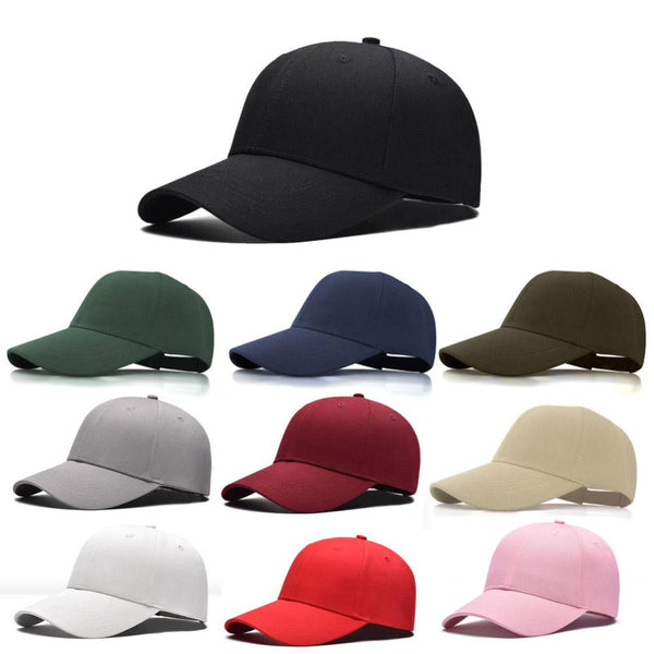 1Pcs 2018 Fashion Cap Women Men Summer Spring Cotton Caps Women Letter Solid Adult baseball Cap Hat Snapback Couples Cap