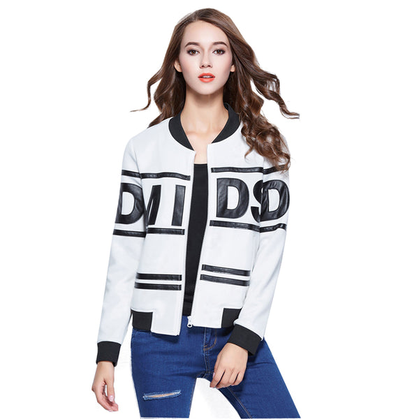 Saiqigui spring Fashion Casual Baseball Jacket Women Slim Thin Bomber Jacket Long Sleeve Patchwork coats Outwear