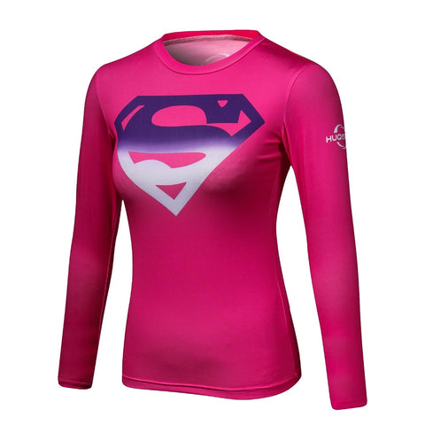 Superman VS Batman Compression Shirt 3D Printed T shirt Women Novelty Long  Sleeve Crossfit Tops Female e393358a96