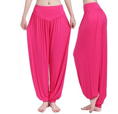 2017 New Women Casual Harem Pants High Waist Dance Pants Woman Fashion Wide Leg Loose Trousers Bloomers Pants Womens Plus Size