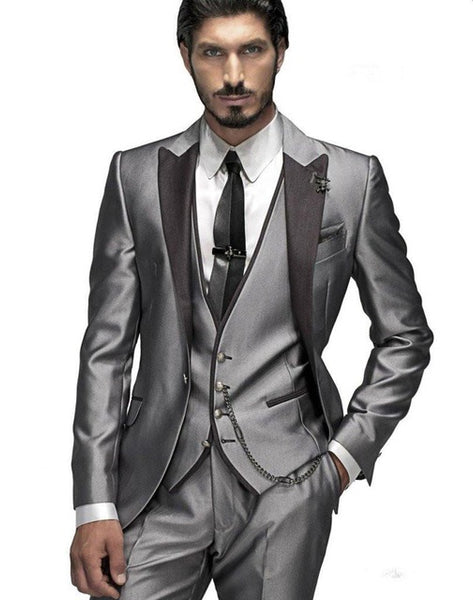 Hot Sale 2018 Mens Suits Wedding Groom Slim Fit Men Suits Latest Desig