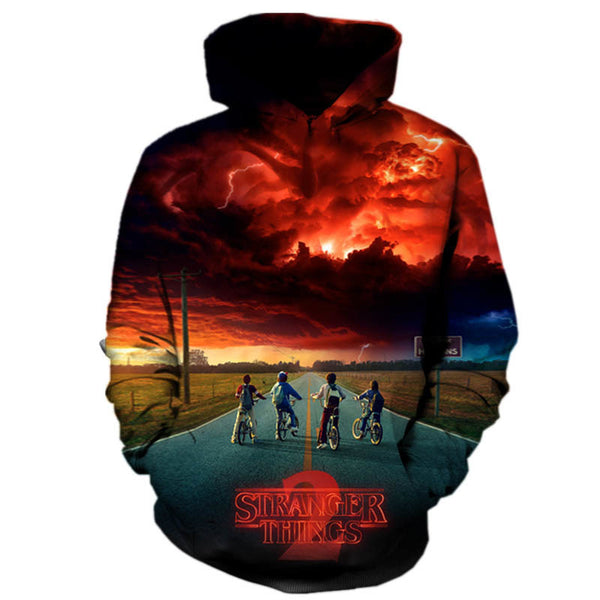 stranger things 2018 new Fashion Women/Men hoodies 3d Printed funny Streetwear Women's Sweatshirts Coats Tracksuits Tops Tees
