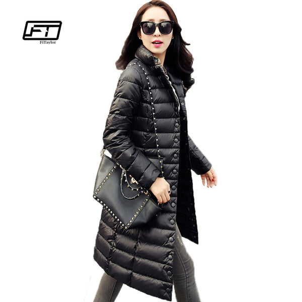0beed0cde Fitaylor New Winter Women Jackets 90% White Duck Down Parkas Ultra Light  Down Coat Casual Warm Snow Overcoat