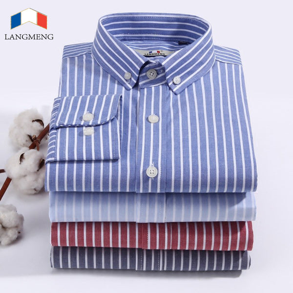 Langmeng Brand Hot Sale New 2018 High Quality Mens Designer Striped Dr Borizcustom