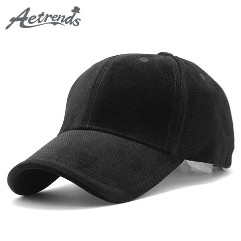 [AETRENDS] 2018 New Brand 100% Cotton Baseball Cap Men Sport Hats Polo Hat Z-3023