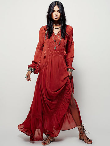 19ae838ab7 Plus size UK 2018 Summer Autumn Ladies Long sleeve Linen dress Ethnic  Embroidery Hippie Boho People