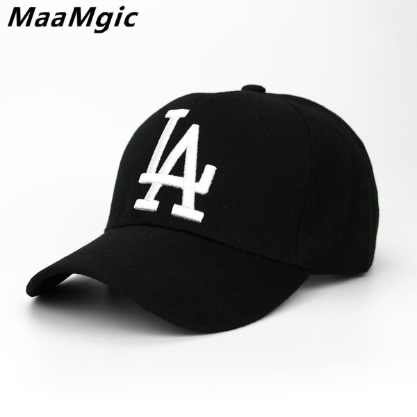 cd02fe7b0ba 2018 New letter Baseball Caps LA Dodgers Embroidery Hip Hop bone Snapb