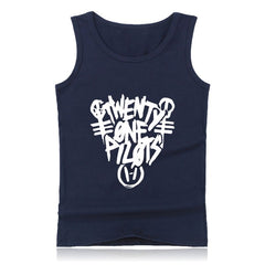 21 Pilots Twenty One Pilots Tank Top For Women Men Sleeveless Tank Tops No Sleeve T-Shirt Twenty One Pilots Band Vest Plus Size