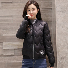 2018 short jacket women round-neck baseball basic jacket solid new fashion cotton padded female autumn jaqueta feminina coat