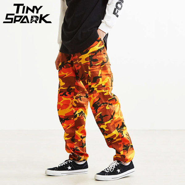 37125bd85 8 Color Camo Cargo Pants Men Fashion Baggy Tactical Trousers Hip Hop C