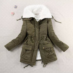 9 Colors 2018 New Casual Women Lamb Wool Thickening Warm Winter Overcoat Jacket Coat Outwear  Parkas S-2XL