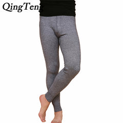 QingTeng Winter Tights Merino Wool Men's Long Johns Thermal Underwear Pants Trousers  Thermal Underwear Mens Leggings Fashion