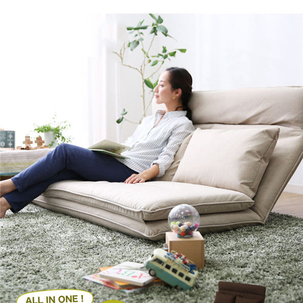 Strange Living Room Futon Chair Sofa Bed Furniture Japanese Floor Legless Modern Fashion Leisure Fabric Reclining Futon Sofa Chair Bed Gamerscity Chair Design For Home Gamerscityorg