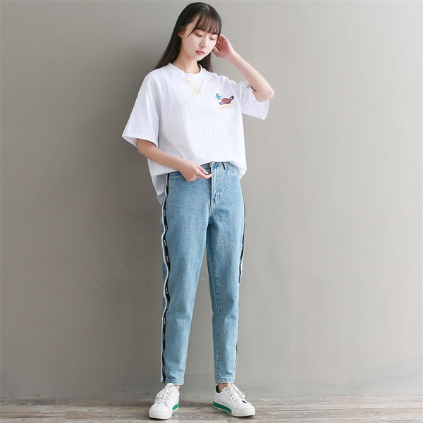 Product Image High Waist Bf Style Jeans Harem Pants Women Trousers Casual Plus  Size Loose Fit Vintage Denim 714745182b22