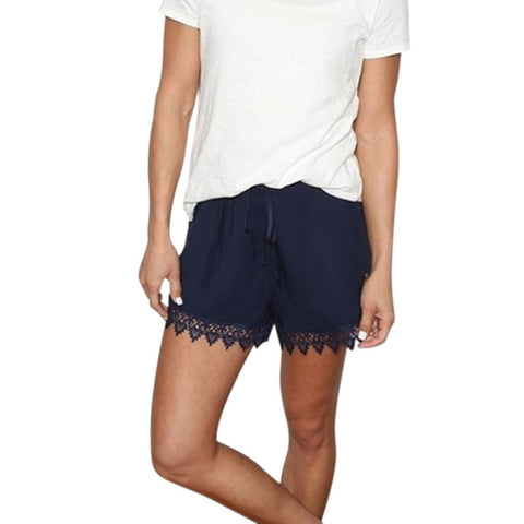 Summer bursts of lace Casual Low Drawstring Cotton Women shorts Fashion EUR Cool  Style Geometric Patterns
