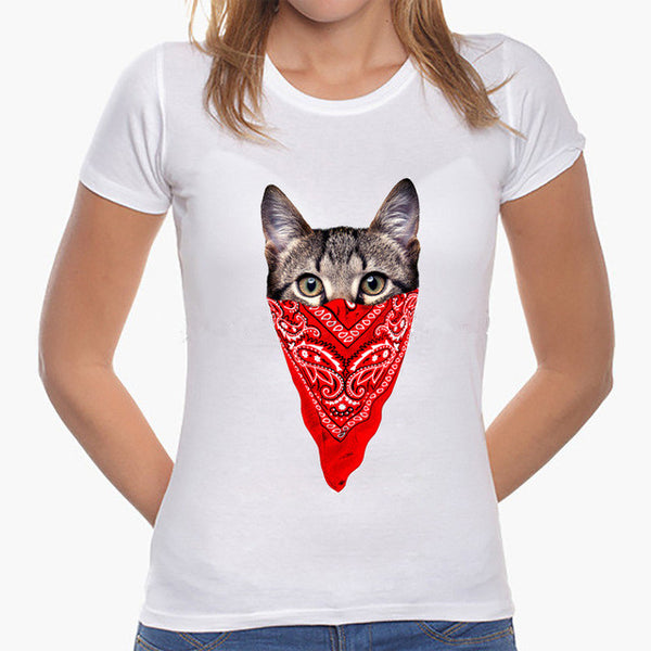 Funny 3D Animals Printing T-Shirts Women Lovely Cartoon Tops Casual Tee