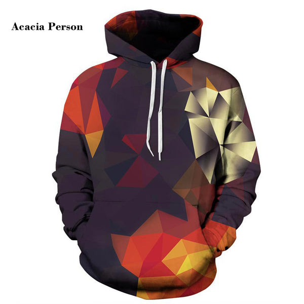 Acacia Person Men/Women Hoodies With Hat Hoody Print Color Blocks Autumn Winter Thin 3d Sweatshirts Hooded Hood Tops