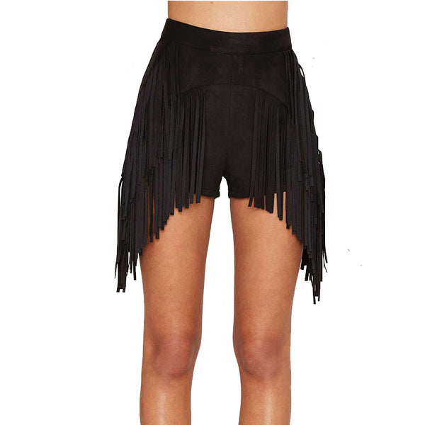 New Fashion Tassel Women Shorts Slim High Waist Shorts Party Club Sexy Female Bottoms For Wholesale