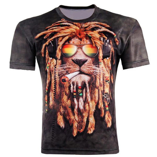 New Fashion Men/women 3d t-shirt funny print colorful hair Lion King summer cool t shirt street wear tops tees