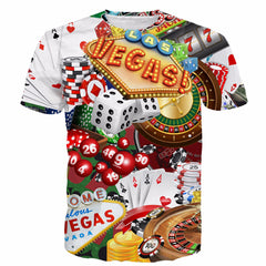 all about las vegas t shirts swag t-shirt men women streetwear hip hop tees tops logic rubiks cube hipster 3d t shirt CTE-069