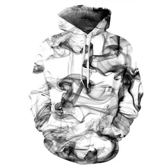 New Fashion Men/Women 3d Sweatshirts Print Watercolor Dreamy Smoke Lines Thin Style Autumn Winter Hooded Hoodies