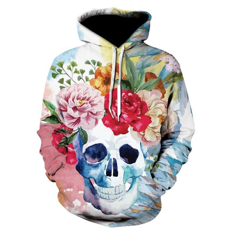 aebac502a58b New design skull print Men Women Hoodies Funny 3D Sweatshirts Autumn Winter  Pullover Hooded Tracksuits