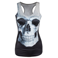 2017 New Summer Women 3D Vest Black Tank Tops Gothic Punk Clubwear Sexy Woman Summer Tops Quick Drying Top