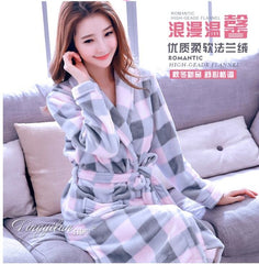 Autumn Winter Thickening Warm Flannel Bathrobe Men Dressing Gown Coral Fleece Bath Robe Male Sleepwear Nightgown Kimono Homme