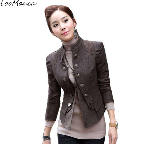 9bef0a5047111 New 2018 Vintage Women Blazers And Jackets Spring Autumn Ladies Suit S