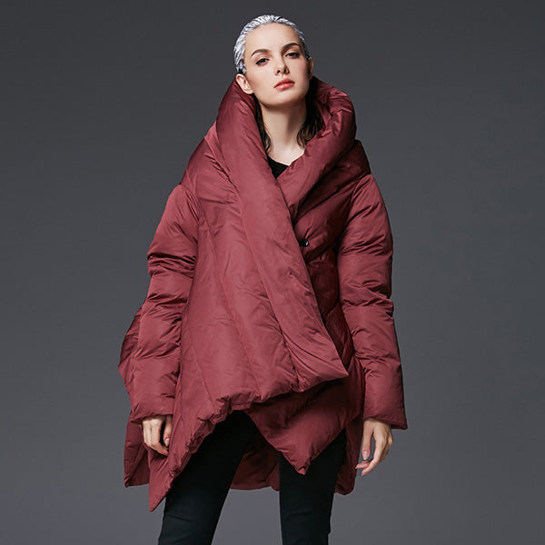 47988ab29 YVYVLOLO Women's Winter Jacket 2018 New Temperament Fashion Cloak Loose  parka women down winter coat Warm Jacket Female Overcoat