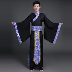 Ancient Chinese Costume Men Stage Performance Outfit for Dynasty Men Hanfu Costume Satin Robe Chinese Traditional Dress Men