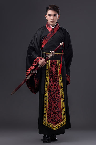 2018 ancient chinese costume men stage performance outfit