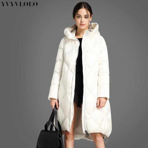 cc5e718e5f Women Winter Coat Jacket Women Cotton Long Down Jacket 2018 Asymmetric