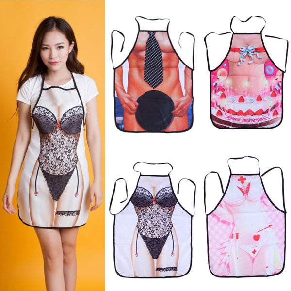 2018 new arrival Women Digital Print Apron Kitchen Chef Cooking Dress Housework Restaurant Brand New