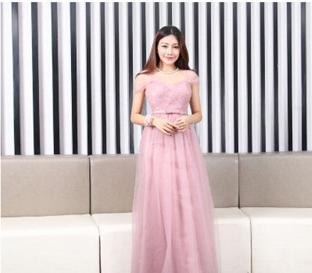 d895dd88f7 ... Dusty Pink Long Bridesmaid Dress Sweetheart Tulle Cheap Pleated Prom  Dresses Under  50 Junior Bridesmaid Gown ...