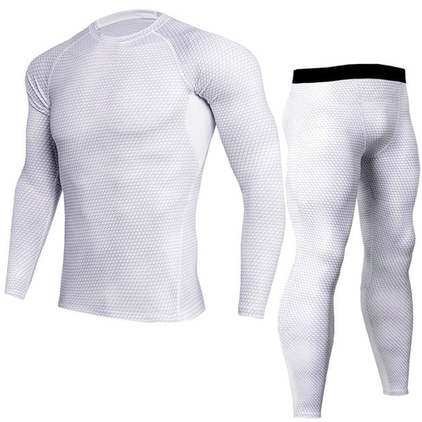 Men Pro Compression Long Johns Fitness Winter Quick Dry Gymming Male Spring Autumn Sporting Sets Runs Workout Thermal Underwear Running