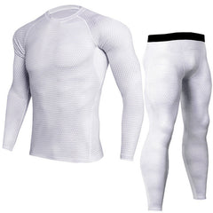 Men Pro Quick Dry Compression Long Johns Fitness Winter Gymming Male Spring Autumn Sporting Runs Workout Thermal Underwear Sets