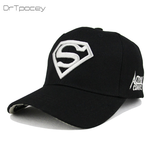 b36fefc23b7d3 2018 New Letter Superman Cap Casual Outdoor Baseball Caps For Men Hats