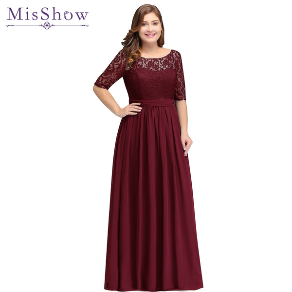 2018 Long Cheap Bridesmaid Dresses Under 50 Floor Length Lace Plus Size Bridesmaid Dress Vestido De Madrinha De Casamento Longo