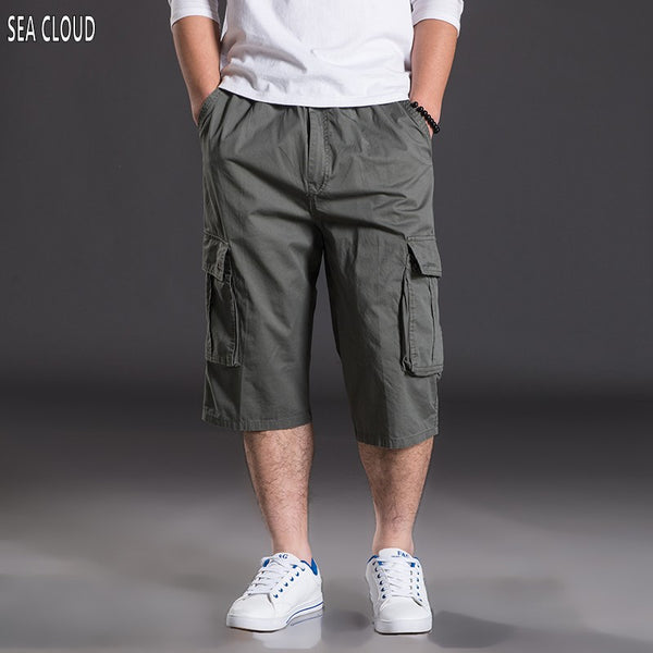 40c5a533f3e7b 82 Summer plus size casual capris shorts men s clothing loose Elastic
