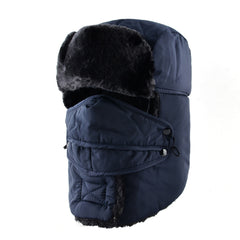 TQMSMY Adult Winter Men warm leifeng earflap trapper aviator snow trooper face mask bomber hat cap women men russian hat TMC17