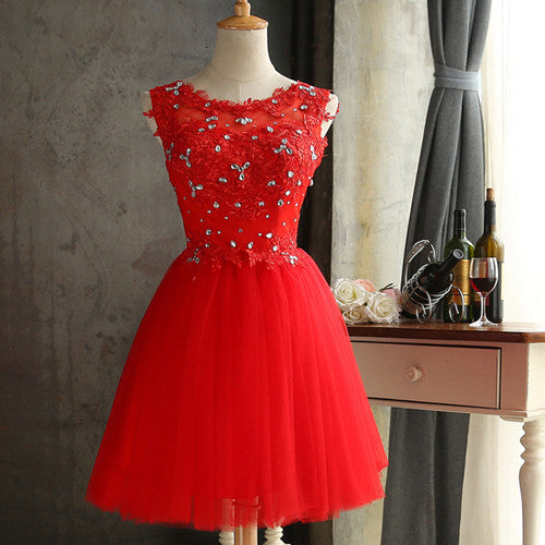 98ea8008ac ... ZHHS-XZ Lace up diamond short red bridesmaid dresses wholesale cheap  wedding party prom ...