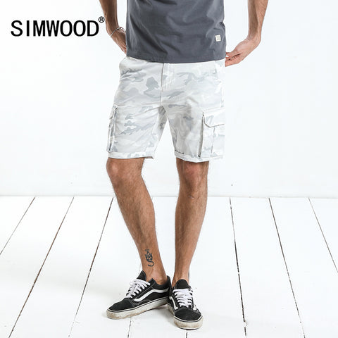 SIMWOOD 2018 Summer New Cargo shorts men slim fit camouflage pockets casual shorts high quality brand plus size clothes 180199