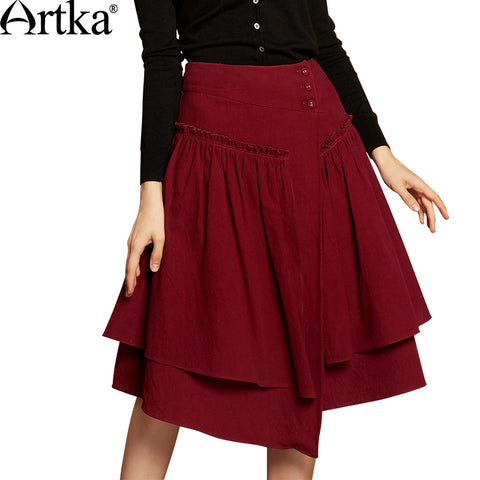 7a026e6000 ... Long Skirt faldas saia jupe. $77.97. Artka Autumn Women's Skirt 2018  Asymmetrical A-Line Skirt Women Patchwork High Waist Skirt Female