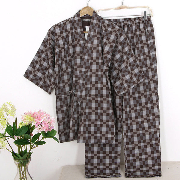 ... Hot sale 100% gauze cotton kimono pajamas mens simple short sleeve  japanese pajamas sets male ... ee2338745