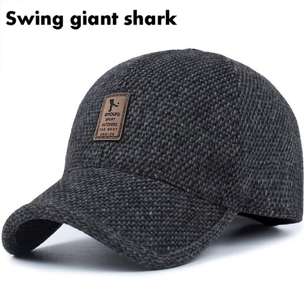 6257c936ef8d1  Swing giant shark  high quality Men s Winter Baseball Cap Warm Thicke