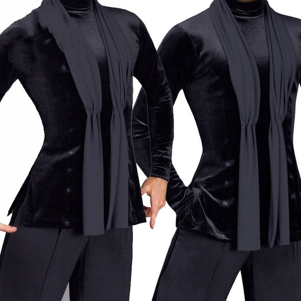 5599c1e7de86 ... 2018 Latin Dance Shirts Mens Ballroom Dancing Wear Adult Standard Tops  Performance Competition Clothing Customize Clothes ...