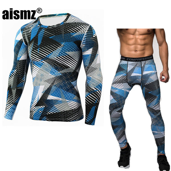 Aismz New Winter Thermal Underwear Sets Men Quick Dry Anti-microbial Stretch Men's Thermo Underwear Male Warm Long Johns Fitness