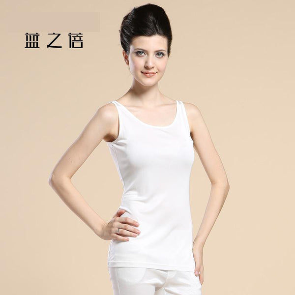 A New Type Of 100% Silk Knit Sweater With A Long, Sleeveless Silk Vest